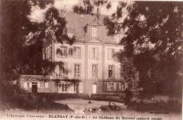 BLANZAT LE CHATEAU DE BELLEUF (ASPECT OUEST) - France