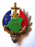 INSIGNE TAP TDM PARACHUTISTES INFANTERIE DE MARINE OPEX AMT ZAIRE KOLWEZI KINSHASA Y.DELSART ETAT EXCELLENT - Armée De Terre
