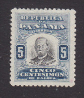Panama, Scott #189, Mint Hinged, Justo Arosemena, Issued 1906 - Panama