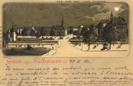 GRUSS Aus MULHAUSEN  - Carte Allemande Circule En 1899 - Mulhouse