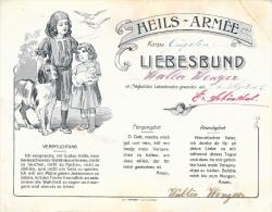 Diplôme - Heils-Armée (Armée Du Salut), Korps - Liebesbund 1923 - Verpflichtung - Morgengebet - Abendgebet - Diplomi E Pagelle