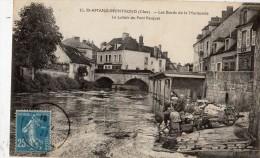 SAINT-AMAND-MONTROND LES BORDS DE LA MARMANDE LE LAVOIR DU PONT PASQUET LAVANDIERES - Saint-Amand-Montrond