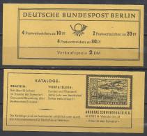Deutschland Berlin Markenheftchen 1966 Brandenburger Tor MH 5 C ** Ungeöffnet Top Qualität, Enthält H-Blatt 13 Schneider - [5] Berlin