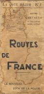 Routes De France - La Côte D´Azur N°1 - Le Nouveau Code De La Route - Editions Cartauto 1933 - Cartes Routières