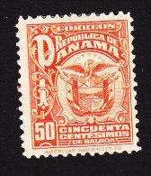 Panama, Scott #242, Mint Hinged, Coat Of Arms, Issued 1924 - Panama