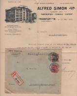 Frankfurt - Recommande Pour La France - Facture Illustree - - Allemagne