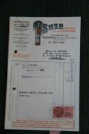 Facture Ancienne - SUZE, Apéritif à La Gentiane,Entrepot De BORDEAUX - France