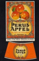 # PERUS-APFEL STEINHAGEN WESTFALIA Deutschland, Label Liquor Spirits Etiquette Alcool Etiqueta Licor Etikett Schnaps - Spirits