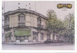 BAR DE CAO - CENTENARIO 1915-2015 - INMIGRACION ASTURIANA A LA ARGENTINA ASTURIAS TARJETA PUBLICITARIA CONMEMORATIVA HI - Cafés