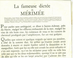 Affiche Format  44 x 28 cm de la  Fameuse  Dict�e de M�rim�e