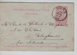 Entier EL10 C C.Gand En 1895 V.Elseghem C. D'arrivée Peteghem PR2343 - Entiers Postaux