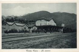 Veneto-belluno-calalzo Cadore Stazione Ferroviaria Veduta Interno Animata Treno Viaggiatori - Italia