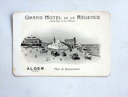 carte postale ancienne : ALGER : Grand Hotel de La R�gence