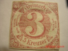 THURN&TAXIS, SCOTT# 53,  3 KR ROSE , MINT OGH - Thurn Und Taxis