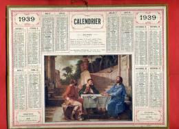 ALMANACH DES POSTES ET TELEGRAPHES 1939 DISCIPLES D EMMAUS L. DE LA HIRE TARIFS POSTAUX DU 01 12 39 IMPRIMEUR OBERTHUR