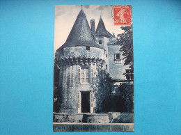 17 : DAMPIERRE Sur BOUTONNE : Le  CHATEAU   ,  C.P.A. Carte En Trés Bon état      ,carte Bleue - Châteaux