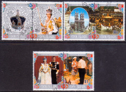 COOK ISLANDS 1977 SG #564-69 Compl.set VF Used Silver Jubilee - Cook Islands