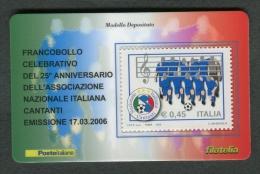 ITALIA TESSERA FILATELICA 2006 - ANNIVERSARIO ASSOCIAZIONE NAZIONALE ITALIANA CANTANTI - 095 - 6. 1946-.. Republik