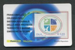 ITALIA TESSERA FILATELICA 2006 - AREE PROTETTE TERRESTRI E MARINE - 151 - 6. 1946-.. Republik