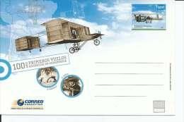 100 AÑOS PRIMEROS VUELOS MECANICOS EN SUDAMERICA  TARJETA  FDC  ARGENTINA SPECIAL COVER  MATASELLO  OHL - Postal Stationery
