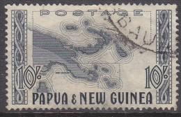 PAPUA NEW GUINEA, 1952  10/- MAP FU - Papua New Guinea