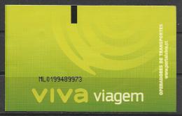 """Portugal, Lisboa, Transportation Ticket , """"Viva"""", 2015."""