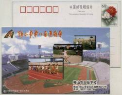 Track And Field School,Run,Javelin,Soccer ,Gymnasium,CN99 Anshan 8th Sport Games Advertising Pre-stamped Card - Autres
