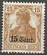 TIMBRE D'ALLEMAGNE SURCHARGE  N� 30 NEUF* TRACE DE   CHARNIERE  / MH