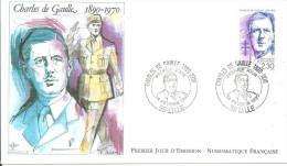 Lille 24 02 1990 Charles De Gaulle - Militaria