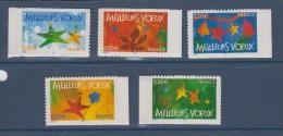 FRANCE 2004-N°3722/3726** MEILLEURS VOEUX AUTOADHESIFS - Neufs