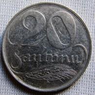 LATVIA 1922 - 20 SANTIMU - Latvia
