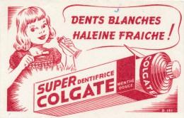 Buvard (format 108 X 168mm)  - B1751 à B1752 - Dentifrice Super Colgate - (non Utilisé) - Buvards, Protège-cahiers Illustrés