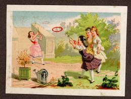 Jolie Chromo Lith. Bognard, Enfants, Jeux, Cerceaux - Trade Cards