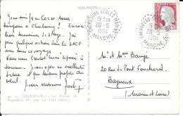 MANCHE  50 -  CHERBOURG ECOLES MARINES - CACHET AGENCE POSTALE N° AP  F8 -  1964 - SUR CP CHERBOURG - Marcophilie (Lettres)