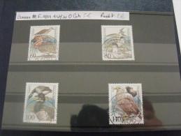 ALLEMAGNE FED 1991  1367 1370 OBLITERE COTE 5 EUROS PRIX DE VENTE 2 EUROS OISEAUX - Vögel