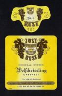 # WELSCHRIESLING 1984 JUST RUST AM SEE AUSTRIA  Wine Label Wein Vino Vin Etiquette Etiqueta Etikett - Etiketten