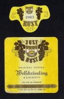 # WELSCHRIESLING 1983 JUST RUST AM SEE AUSTRIA  Wine Label Wein Vino Vin Etiquette Etiqueta Etikett - Etiketten