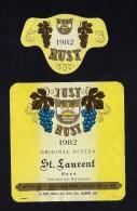 # ST.LAURENT ROSE´ 1982 JUST RUST AM SEE AUSTRIA  Wine Label Wein Vino Vin Etiquette Etiqueta Etikett - Etiketten