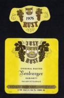 # NEUBURGER 1976 JUST RUST AM SEE AUSTRIA  Wine Label Wein Vino Vin Etiquette Etiqueta Etikett - Etiketten