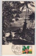 Wallis Et Futuna, Carte Photo Avec Cachet De Propragande En 1958 - Covers & Documents