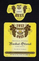 # MUSKAT OTTONEL 1984 JUST RUST AM SEE AUSTRIA  Wine Label Wein Vino Vin Etiquette Etiqueta Etikett - Etiketten