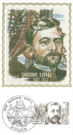 Dijon  18 12 1982 Gustave Eiffel - Cartoline Maximum