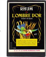 étiquette  Rhum L' OMBRE D' OR Martinique - Rhum