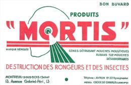 Buvard (format 135 X 210mm)  - B1753 -Destruction Rongeurs Et Insectes MORTIS  - (non Utilisé ) - Blotters