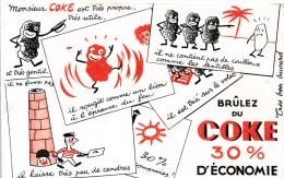 Buvard (format 135 X 210mm)  - B1758 à B1760 - Promotion Coke - (non Utilisé ) - Cachet Gaz De France Nancy Au Verso - Buvards, Protège-cahiers Illustrés