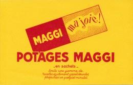 Buvard (format 135 X 210mm)  - B1771 à B1772 - Potages MAGGI ( Non Utilisé) - Sopas & Salsas