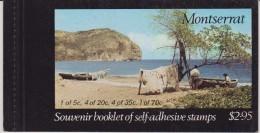 Montserrat 1975 Artifacts Canoe Complete Booklet MNH - Montserrat