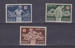 Belgish Congo 1957 Rode Kruis 3w ** Mnh (24486A) - Belgisch-Kongo