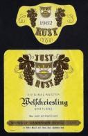 # WELSCHRIESLING SPATLESE 1982 JUST RUST AM SEE AUSTRIA  Wine Label Wein Vino Vin Etiquette Etiqueta Etikett - Etiketten