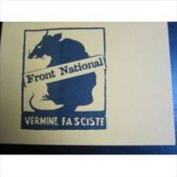 """Carte : """"Vermine Fasciste"""" (Format Carte Postale, Aucune Autre Inscription) - Non Classificati"""